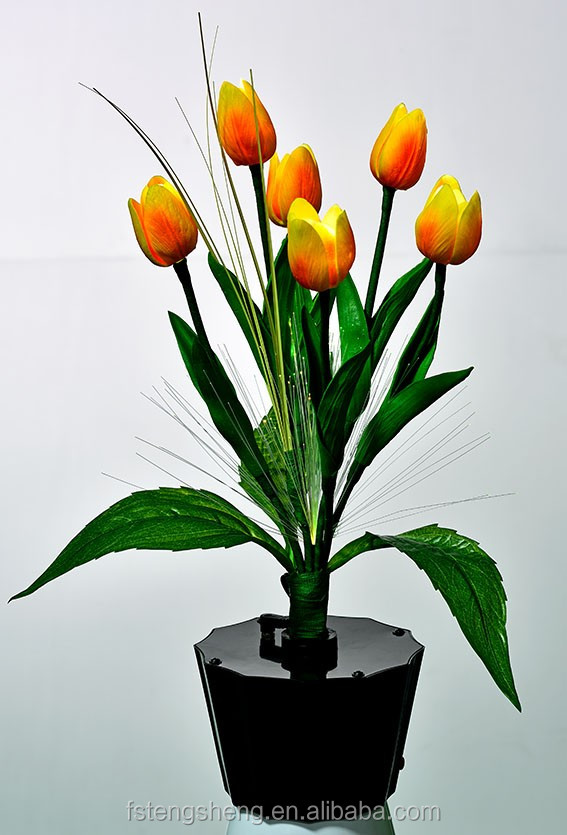 Artificial Flowers Wedding Decor PU Tulip Real Touch Flower