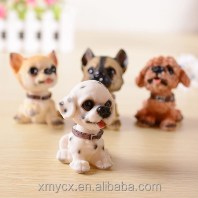 Resin dog statue bobblehead dog with bobble head animals
