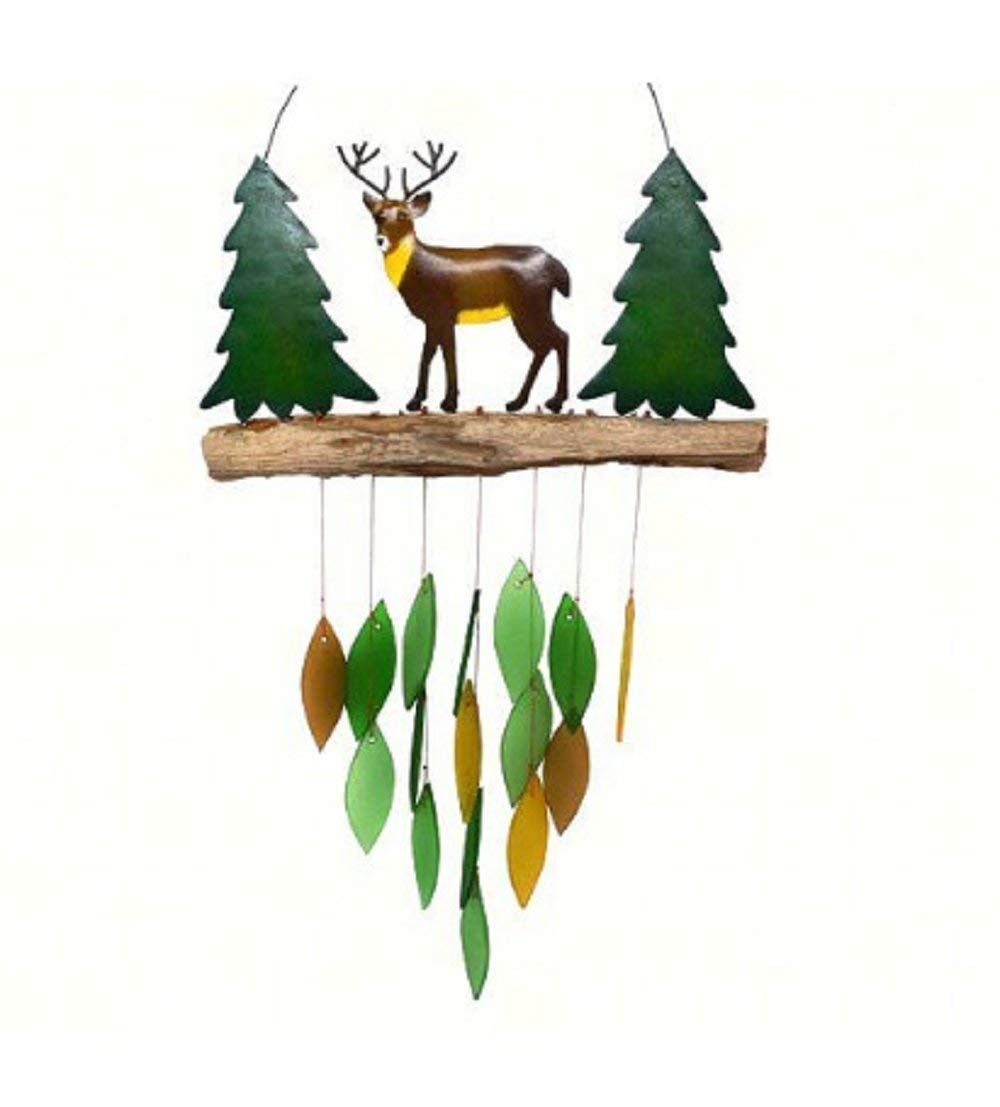 MyEasyShopping Deer Wind Chime - Multi Color - Dream Catcher Hanging Craft Handmade Friends Gift Style Wind Chime New Decor Us Fawn Baby Hot