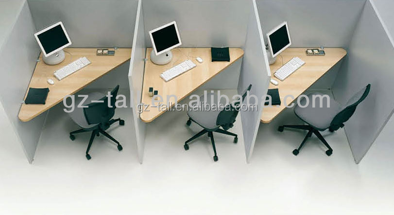 hot sale white 3 person call center workstation wood office cubicle