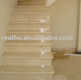 Escalera de marmol beige escaleras identificaci n del for Marmol beige precio