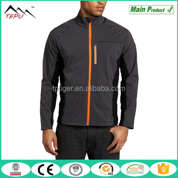 2017 Casual Softshell Wear Men's Long Sleeve Full Zip Outer Jacket