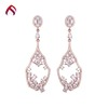 Personalized white cz 925 silver geometry earring jewelry