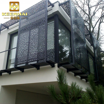 Architectural Aluminum Perforated Sheet Metal Fence Panel