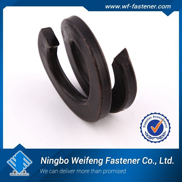double coiled spring washers/railway washers DIN127B black finish China manufacturers Suppliers & exporters ningbo weifeng