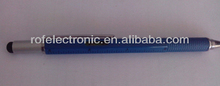 Promotion item 6 in 1 ballpoint pen with Stylus tip with ball pen,touch pen,leveler,screwdriver and ruler