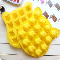 16 Cavity Silicone cake mold Soap molds Decoration mould Winnie the Pooh chocolate mold