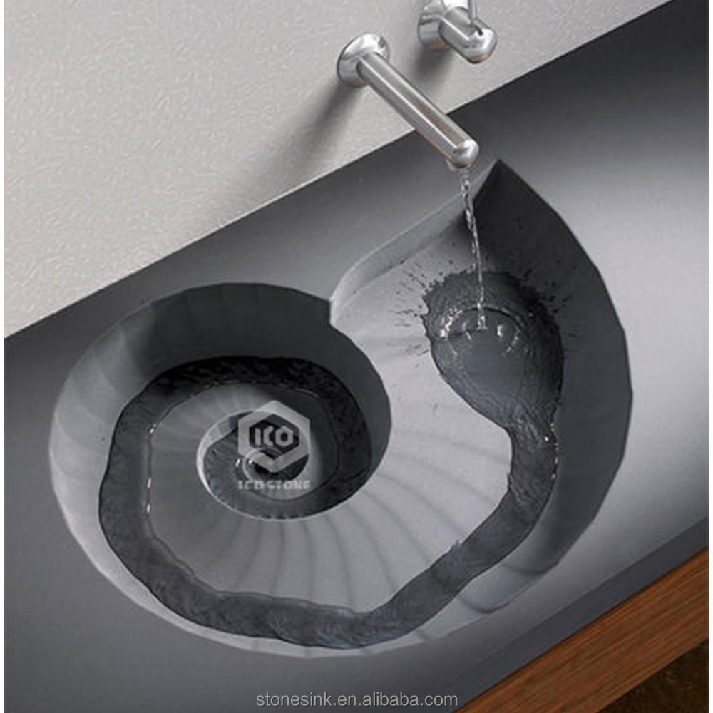 nieuwe stijl spiraal hotel graniet stenen wasbakbadkamer wastafelsproductI # Wasbak Koper_133721