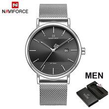 NAVIFORCE Лидирующий бренд, роскошные мужские кварцевые часы, женские стальные водонепроницаемые повседневные часы для свиданий, мужские наруч...(Китай)