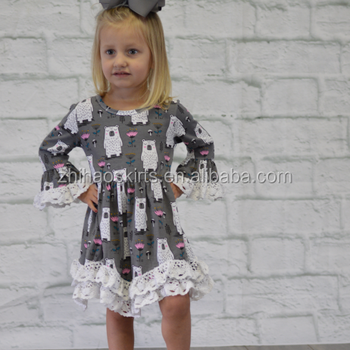 7a63d69f97 2018 new style wholesale boutique little girl casual long sleeves floral  fall winter dress baby girl