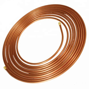 Good quality 15m(50FT) roll Pancake Copper fin tube coil ASTM B280