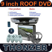 9 Inch Roof Car DVD with 32Bit Wireless Game Function+SD/USB+Sony Loader(TZ-DR900)