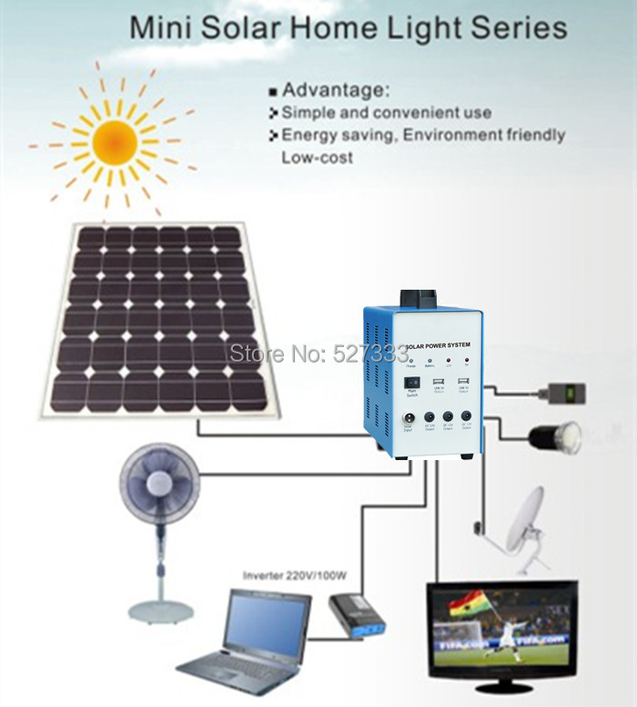 Portable 70w Solar Power Household System 70w Solar Panel