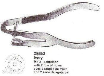 1b4646d4cb126 Ivory Rubber-dam Punch With 2 Row Of Holes