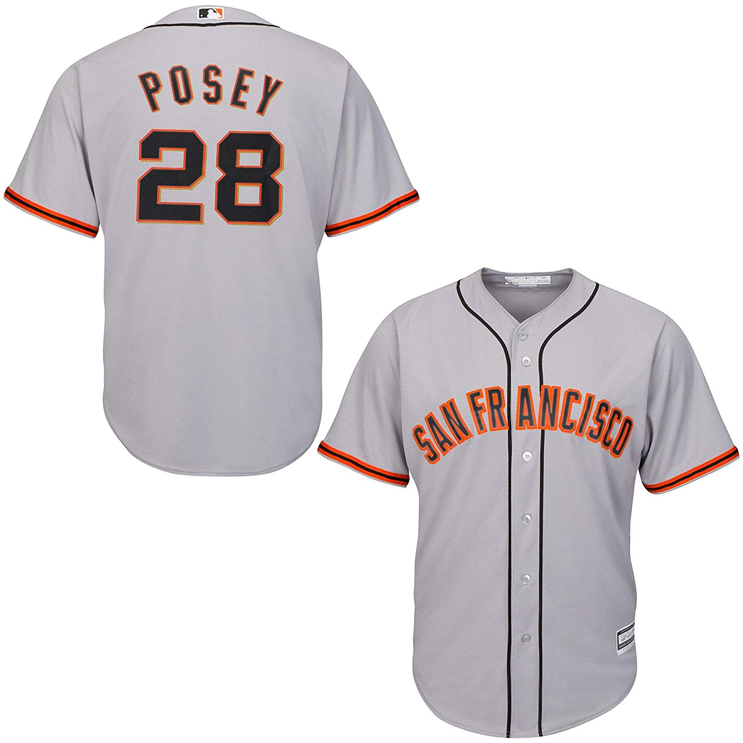 f1b84127d Buy San Francisco Giants Buster Posey Youth Black Name and Number T ...