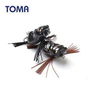 TOMA 40mm 5g silicone frog lure soft plastic bait fishing lure for snakehead