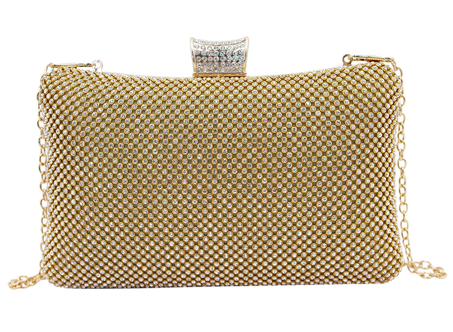Color : Gold, Size : Free Size Zhao Xiemao Clutch Bag Womens Round Clutch Evening Bag Evening Bag