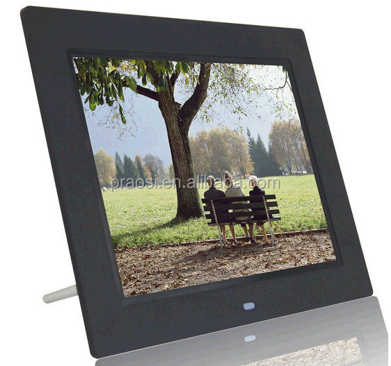 8'' LCD Digital Photo Frame/Digital Picture Frames Small LCD Advertising Player HD 800*600 /SD/MMC/USB China Factory