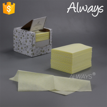 wave printing 12mesh spunlace nonwoven novelty cleaning wipe