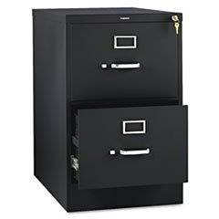 ** 310 Series Two-Drawer, Full-Suspension File, Legal, 26-1/2d, Black **