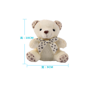 Fashion wedding plush stuffed bear doll 10cm Teddy Bear cell phone bag pendant keychain