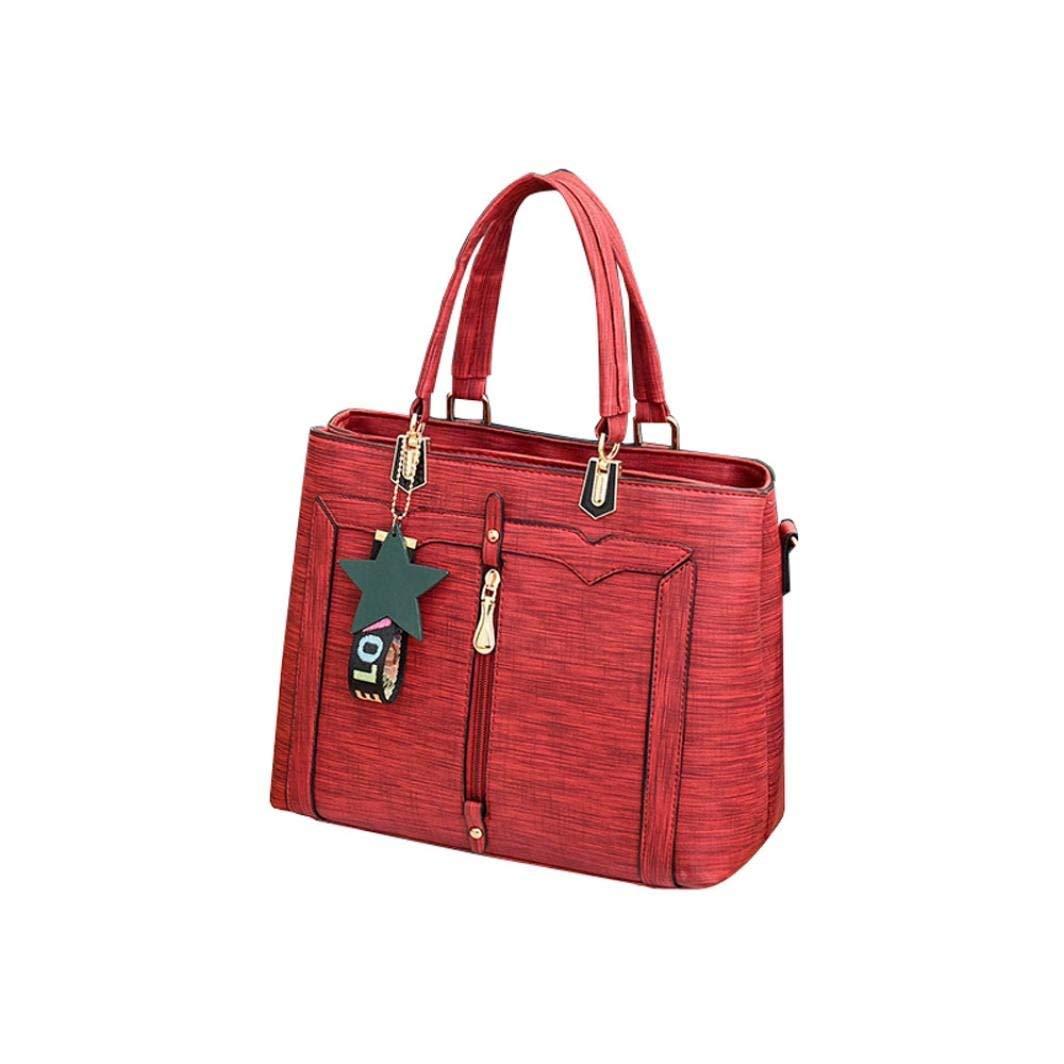 2018 Womens Handbags Shoulder Bags TOOPOOT Ladies Solid Star Backpack Leather Shoulder Top Handle Tote Bag