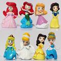 High Quality Cute Princess Ariel Cinderella Snow white Belle Cartoon Figure Toy doll Set of 8