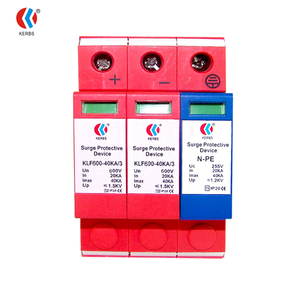Solar PV System DC SPD 40ka Power Surge Protector Protection Device 600V Surge Arresters