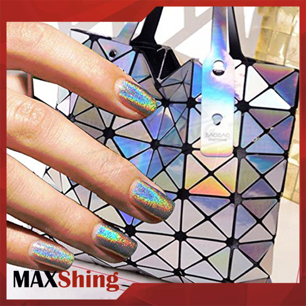 Chrome Powder Holographic Laser Nail Art Rainbow Glitter, Nail Powder Pigments
