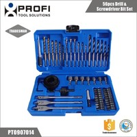 56pcs best price woodworking and metal drill bits kit for drilling wood and sheet steel