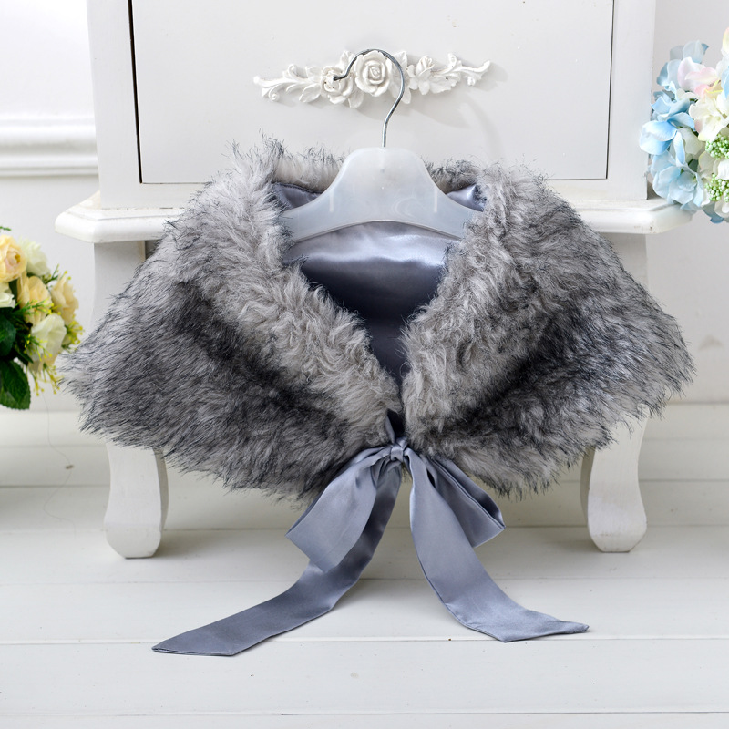 2016 Wedding Dress Shawl girl/artificial fur shawl and <strong>Wraps</strong> Girls PJ-MM004