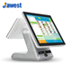 Best Price Full Flat Surface Touch Screen Android All In One Dustproof POS Machine System with silver color