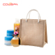OEM jute beach bag wholesale jute tote bag jute shopping bag