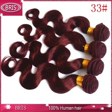 Best quality human hair extension deep wave color 33