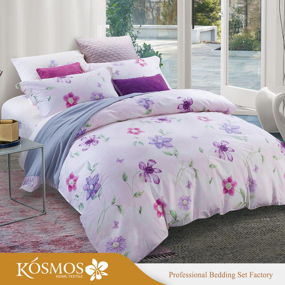 4 piece Home Bedding printed duvet cover cotton king bed sheets