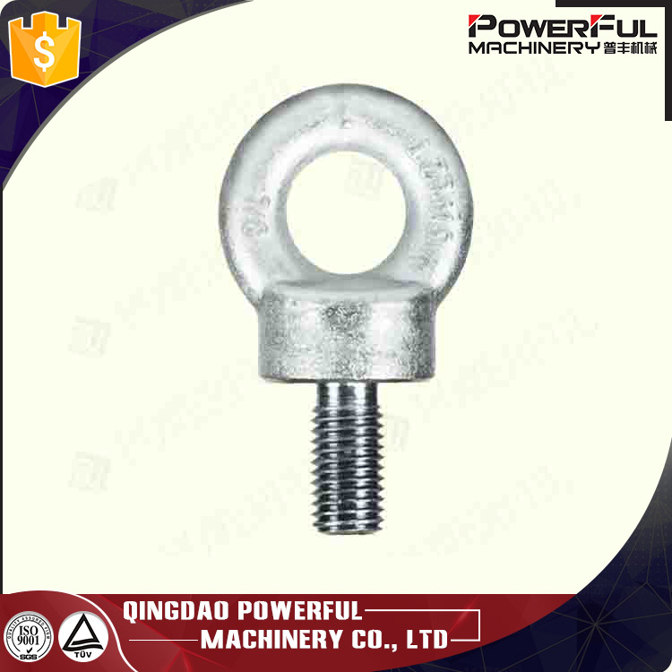 Drop Forged Galvanized BS529 Type Black Collared Eye Bolt
