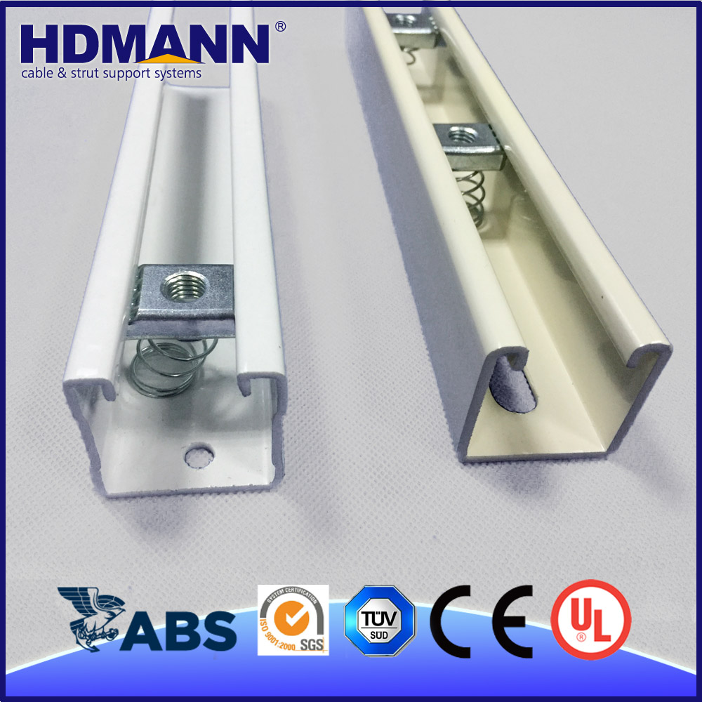 Convenient Maintenance High Quality Strong Powder Coated Metal Unistrut Strut Slotted Channel Szies
