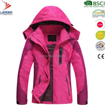 High quality ladies outer breathable waterproof rain jacket