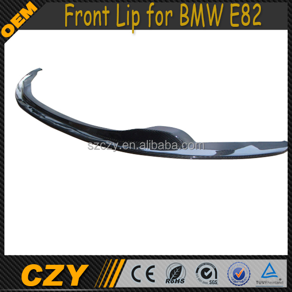 Carbon Fiber E82 Front Bumper Lip for BMW