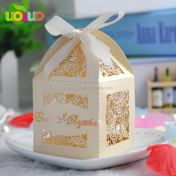 Special Design Islamic Wedding Cake Candy Decorations Boxes For