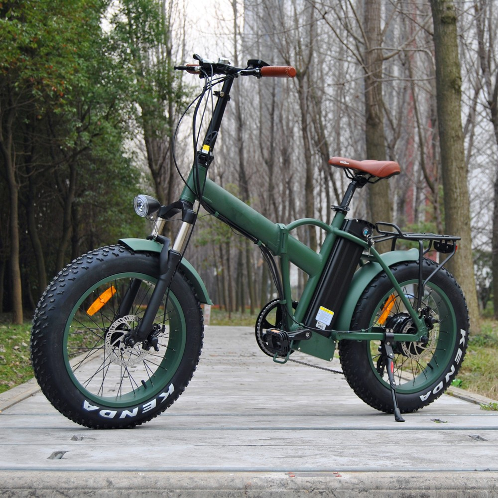 fat tire foldable electric bike 20 mountain folding e. Black Bedroom Furniture Sets. Home Design Ideas