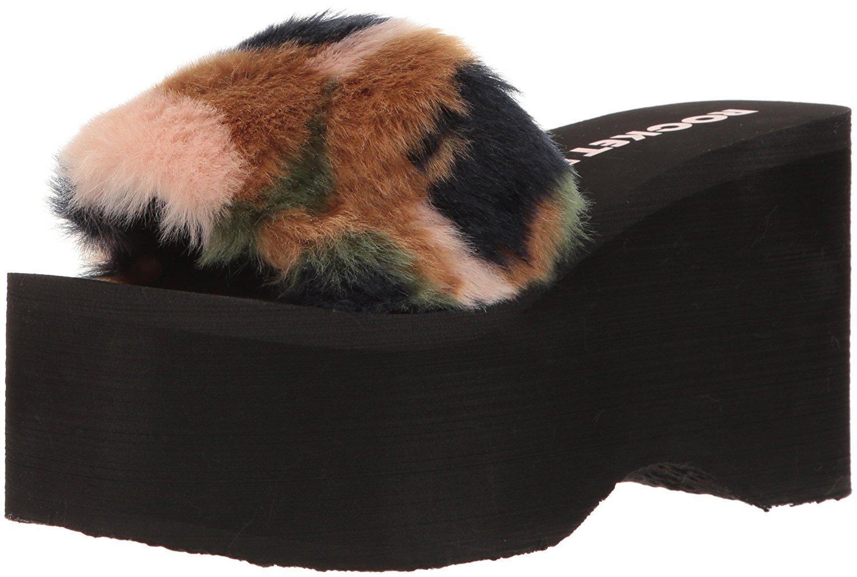 49d529a72d14 Buy Rocket Dog Womens Boyd Fur Lined Suede Wedge Heel Platform Ankle ...