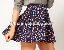 womens fashion lace skirt with floral print 2012