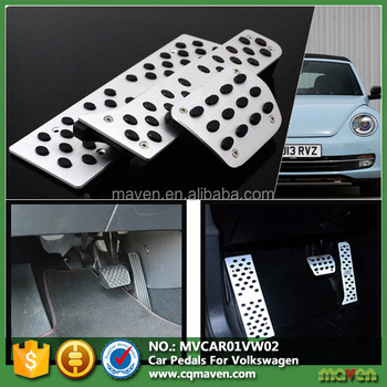 Metal Rubber Anti Slip Automatic Car Fuel Brake Pedal For Auto Parts Volkswagen Accessories