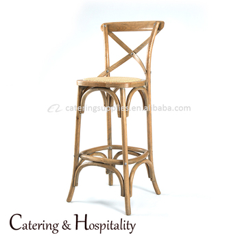 Antique Counter Chair Solid Wood Seat