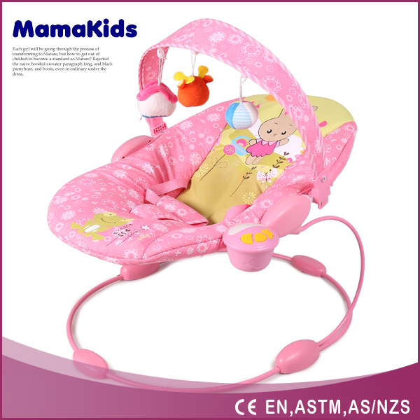 Comfortable baby plush rocking chair folding baby bouncer electric baby rocker
