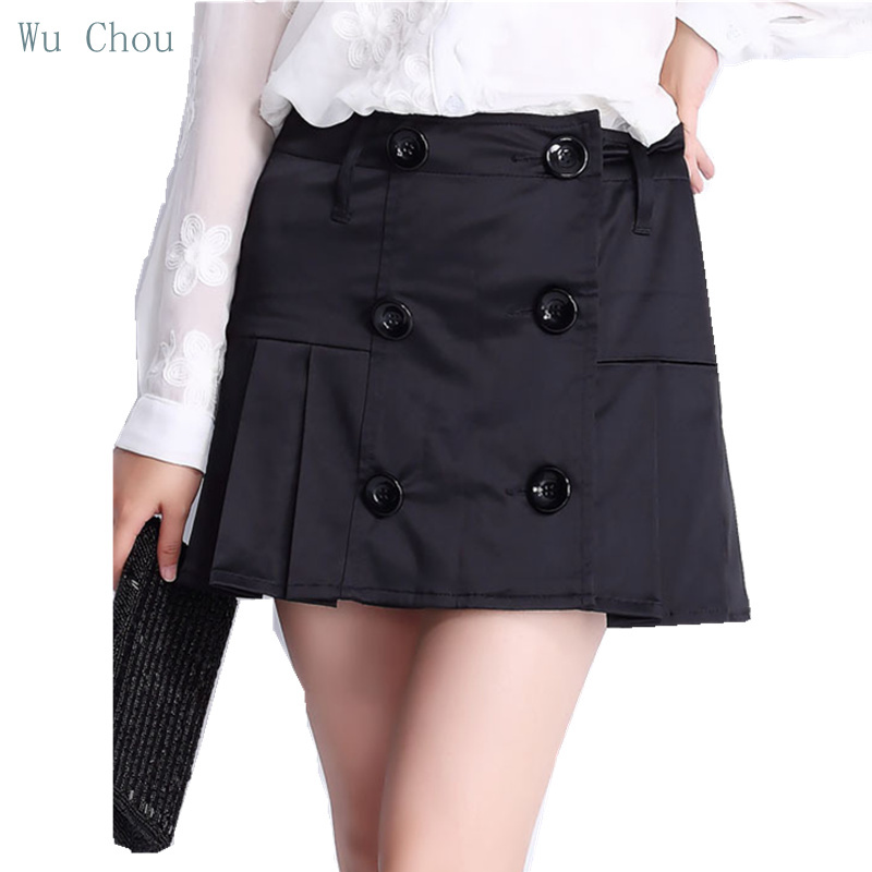 Get Quotations · Women s Summer Skirts Knee Length Pleated Skirts For Girls  Black Business Work Office SKirts 2015 Hot 2fb93fdd6358
