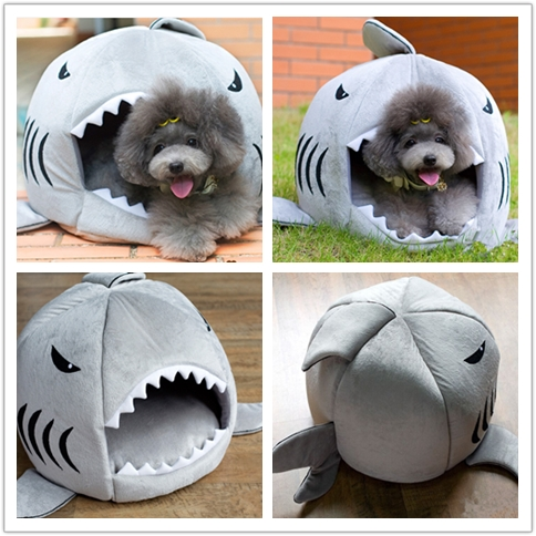 shark shape endurable pet accessories bed for pet dog and cat
