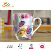 wholesale customer design ceramic mug bone china coffee mug
