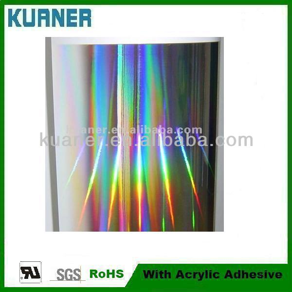 Rainbow effort self adhesive plastic film foil PET laser filM